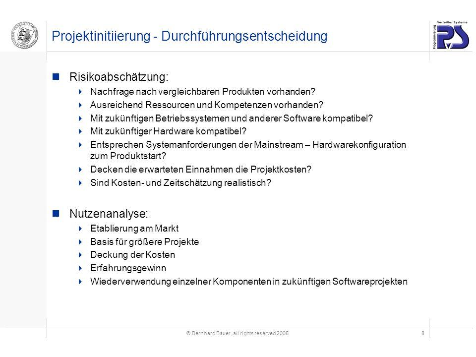 Projektinitiierung - Durchführungsentscheidung