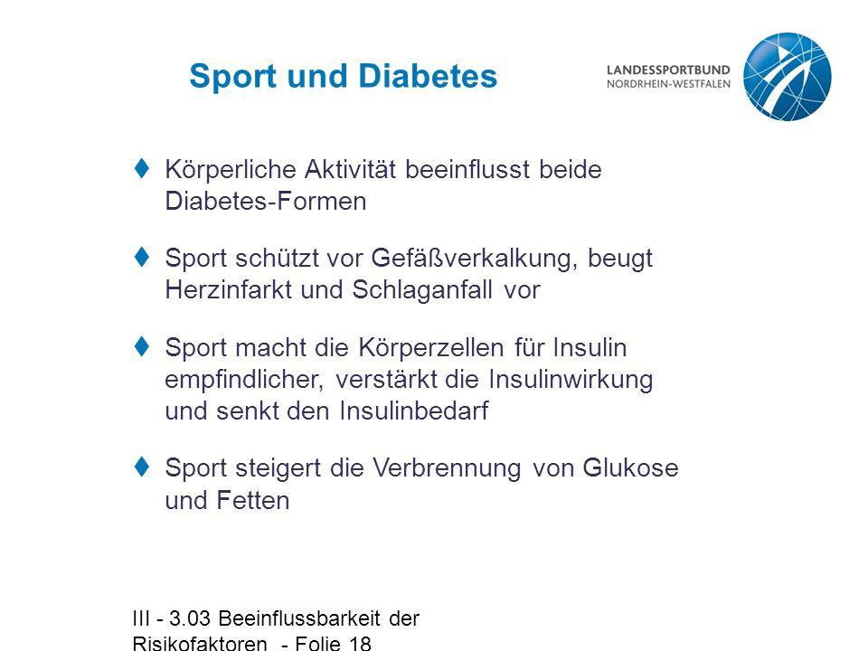 Sport und Diabetes Körperliche Aktivität beeinflusst beide Diabetes-Formen.