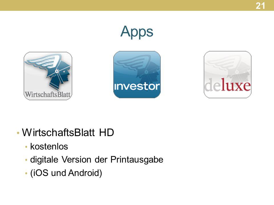 Apps WirtschaftsBlatt HD 21 kostenlos