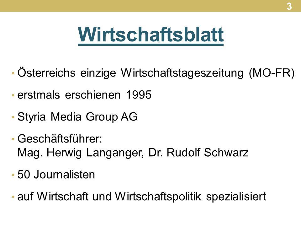 Wirtschaftsblatt Österreichs einzige Wirtschaftstageszeitung (MO-FR)