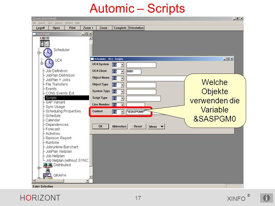Welche Objekte verwenden die Variable &SASPGM0