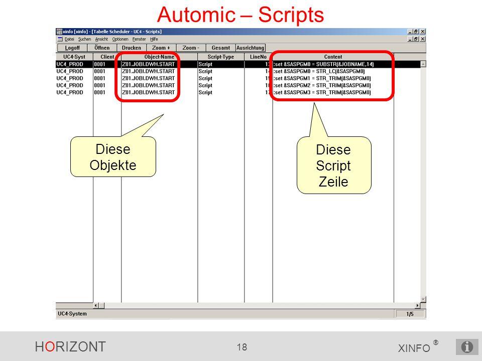 Automic – Scripts Diese Objekte Diese Script Zeile