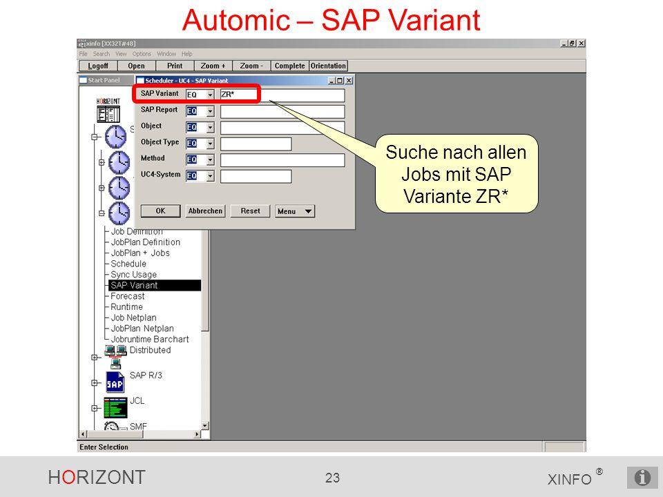 Suche nach allen Jobs mit SAP Variante ZR*