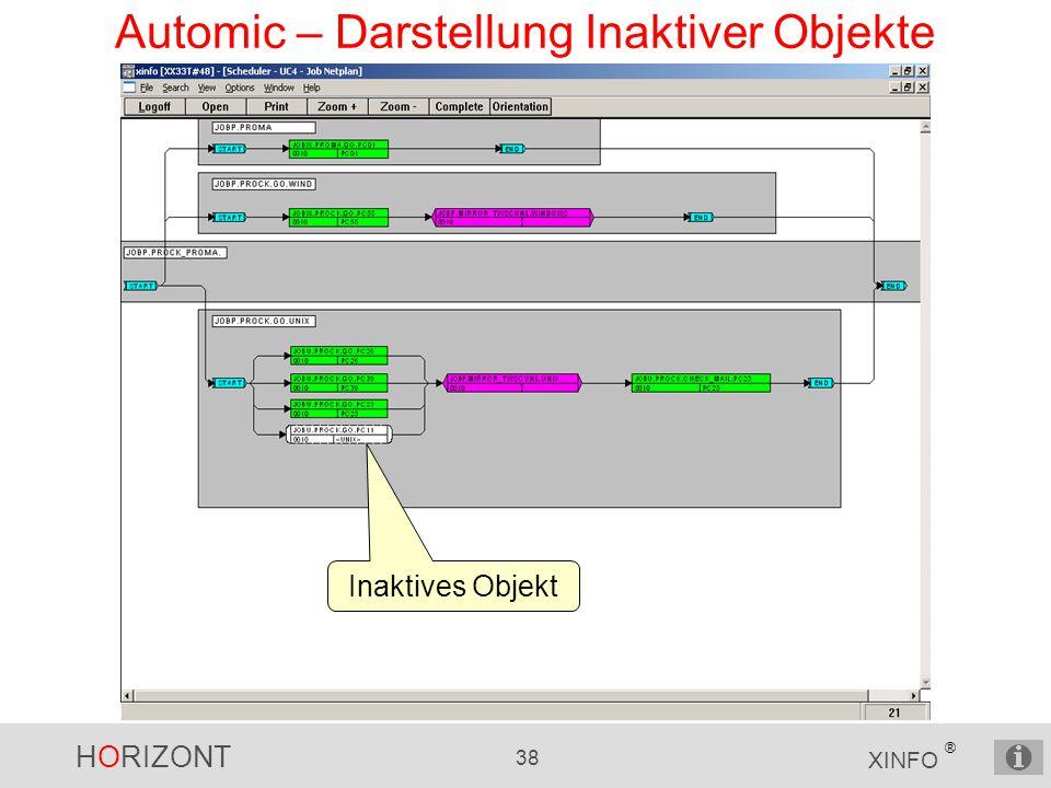 Automic – Darstellung Inaktiver Objekte