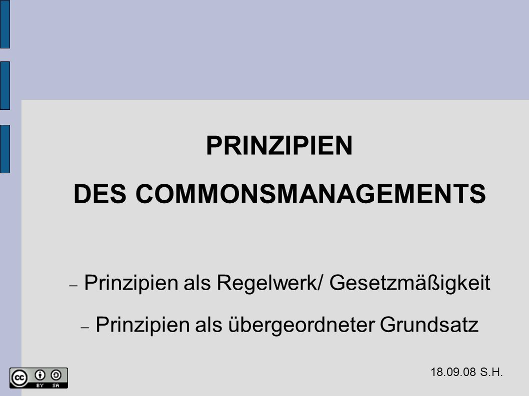 DES COMMONSMANAGEMENTS