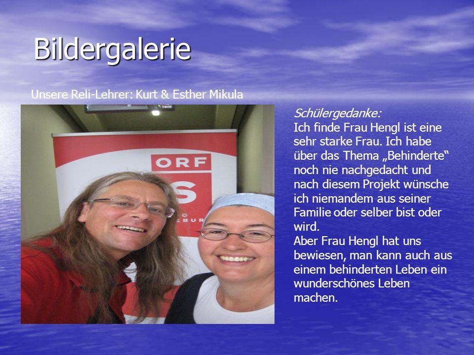Bildergalerie Unsere Reli-Lehrer: Kurt & Esther Mikula Schülergedanke:
