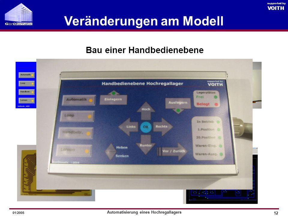 Veränderungen am Modell Bau einer Handbedienebene
