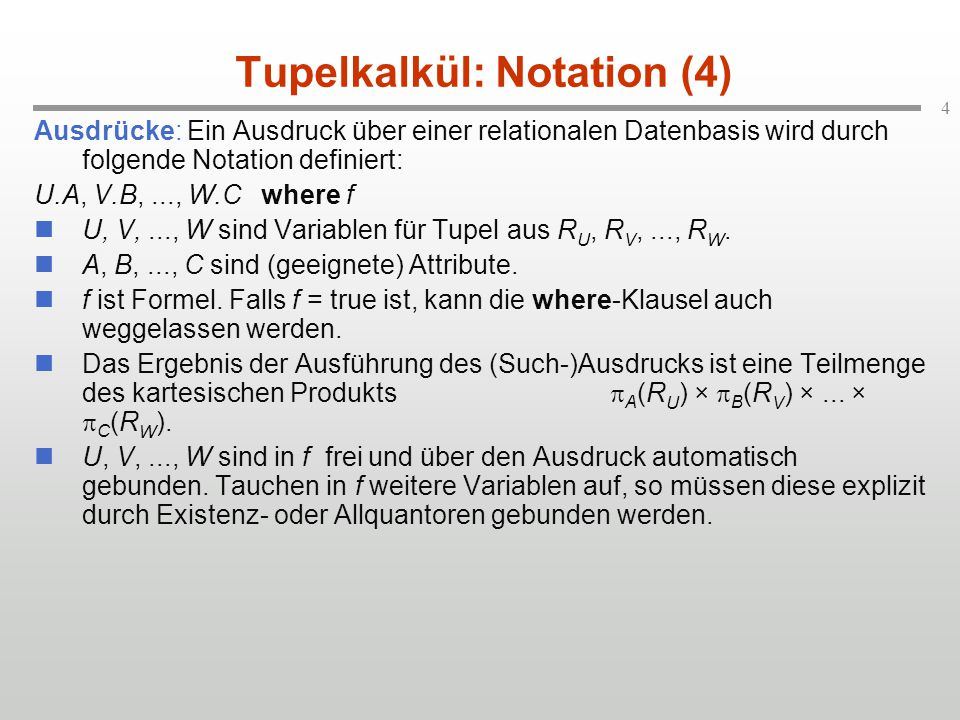 Tupelkalkül: Notation (4)