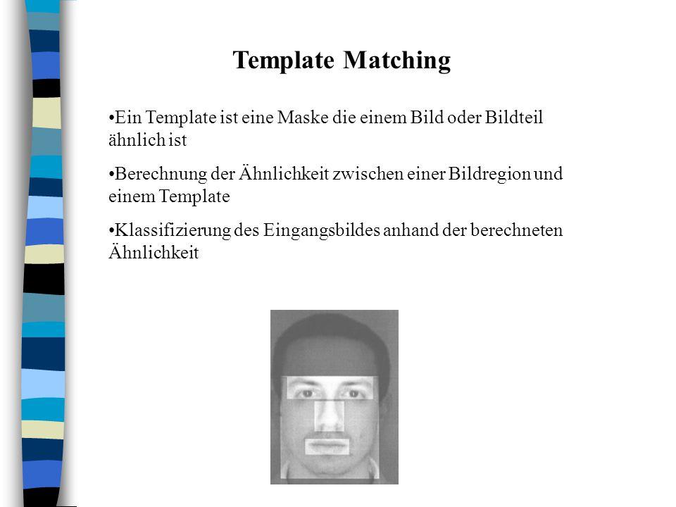 Template Matching Ein Template ist eine Maske die einem Bild oder Bildteil ähnlich ist.