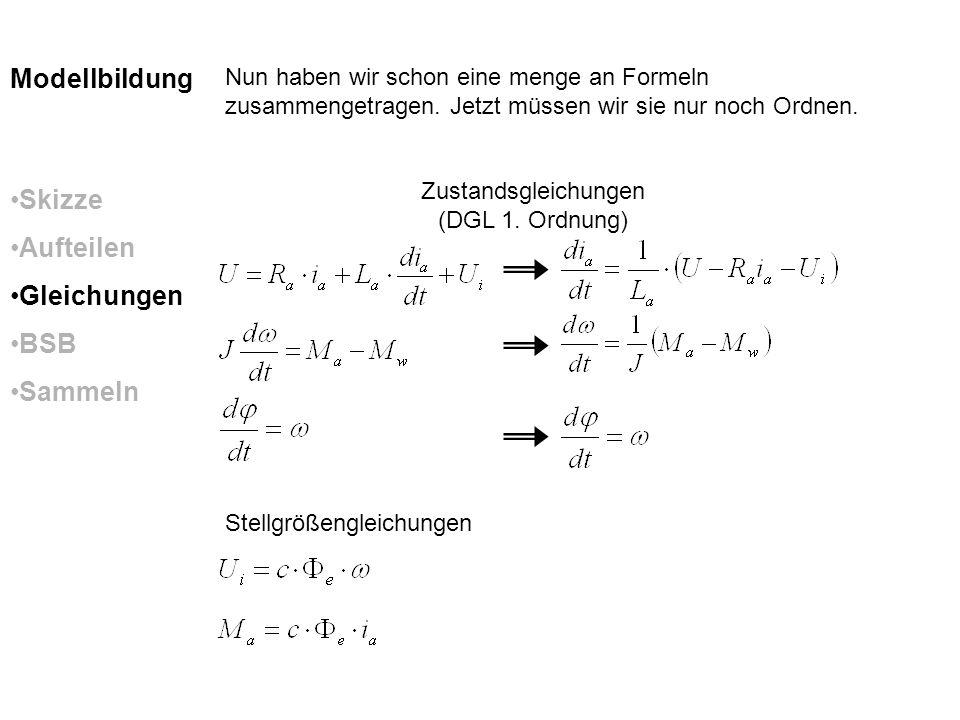 Zustandsgleichungen (DGL 1. Ordnung)