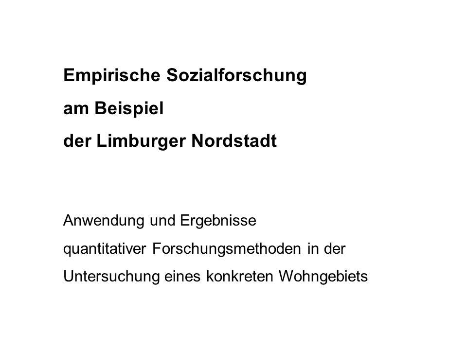 Empirische Sozialforschung am Beispiel der Limburger Nordstadt