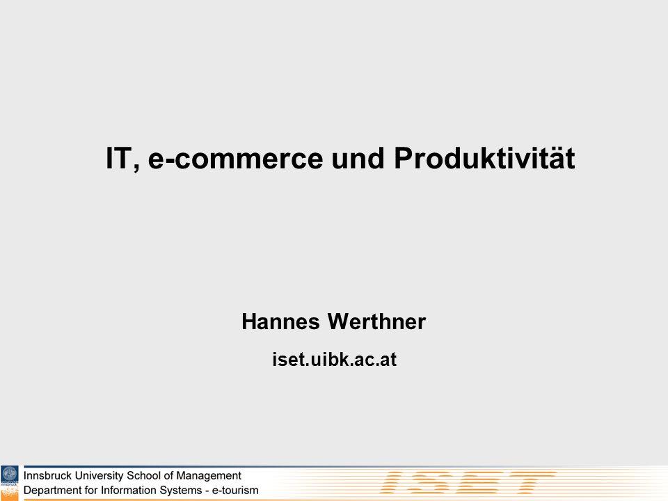 IT, e-commerce und Produktivität