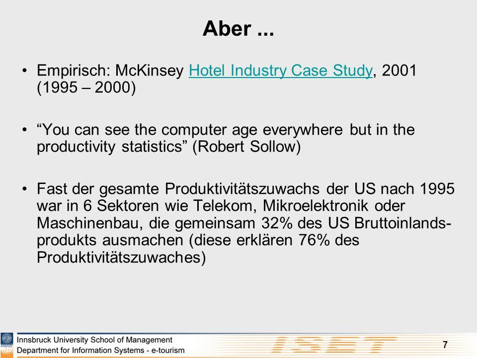 Aber ... Empirisch: McKinsey Hotel Industry Case Study, 2001 (1995 – 2000)