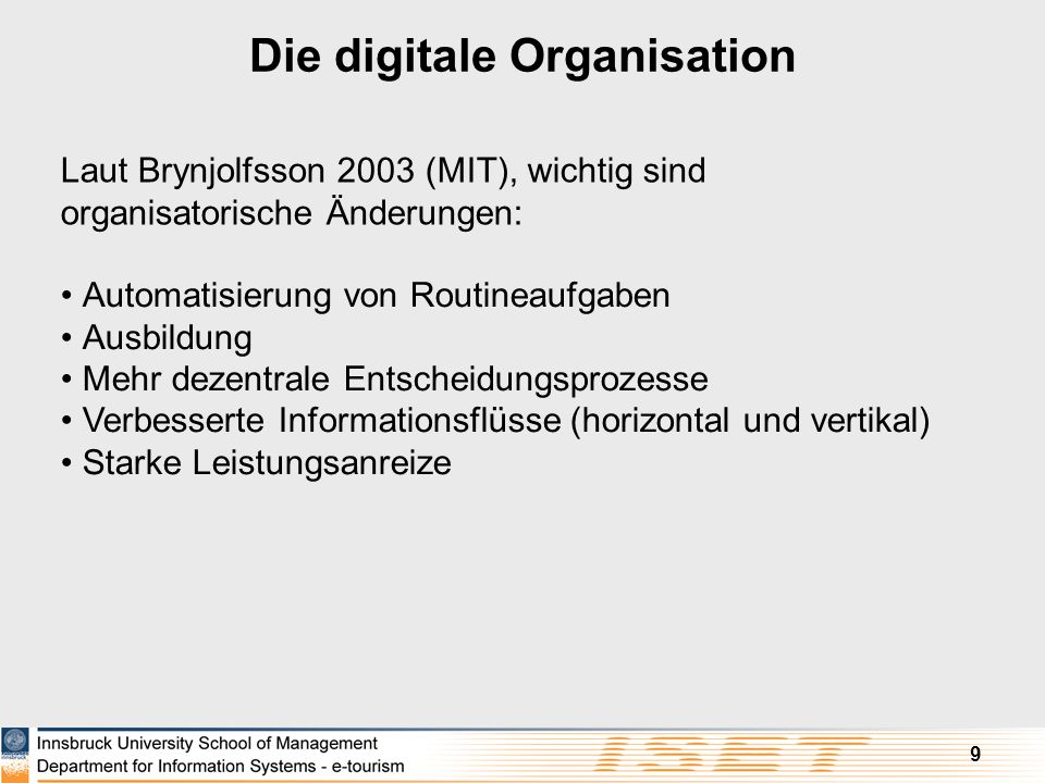 Die digitale Organisation