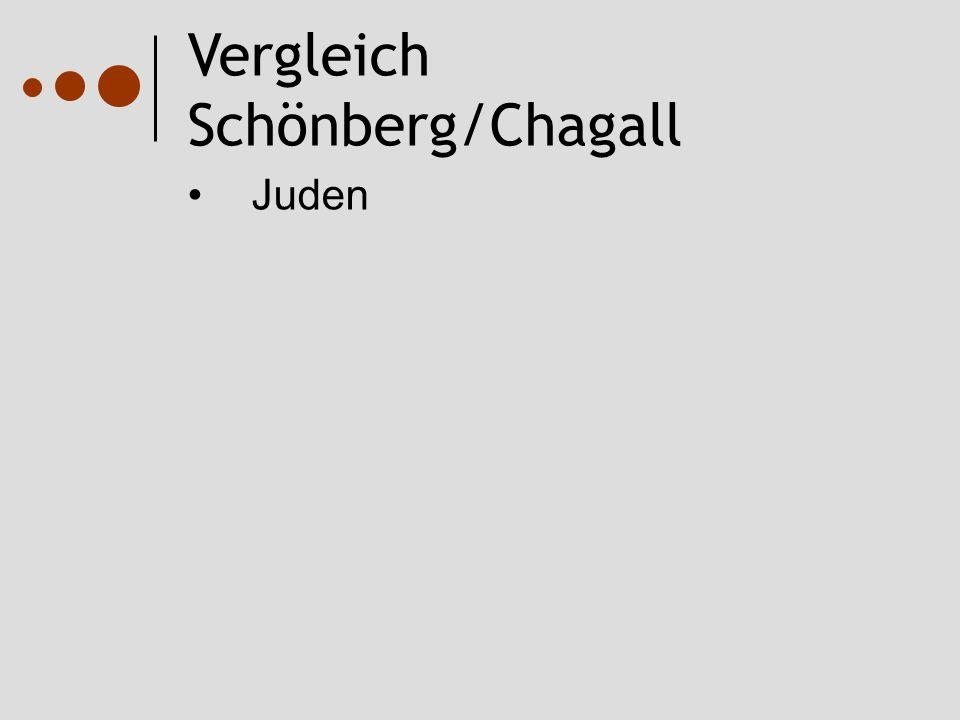 Vergleich Schönberg/Chagall