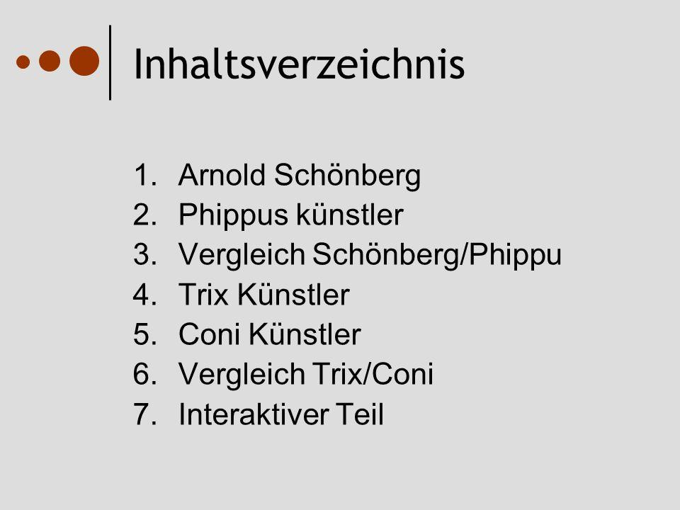 Inhaltsverzeichnis Arnold Schönberg Phippus künstler
