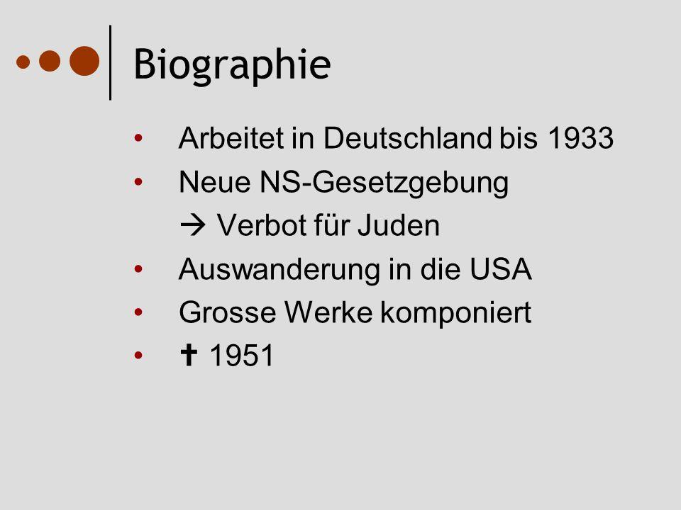 Biographie Arbeitet in Deutschland bis 1933 Neue NS-Gesetzgebung