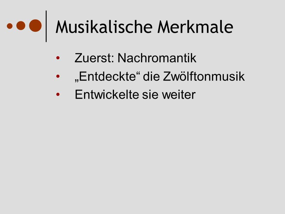 Musikalische Merkmale