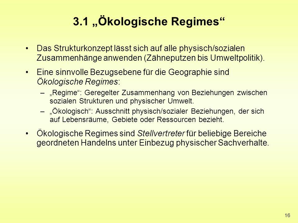 """3.1 """"Ökologische Regimes"""