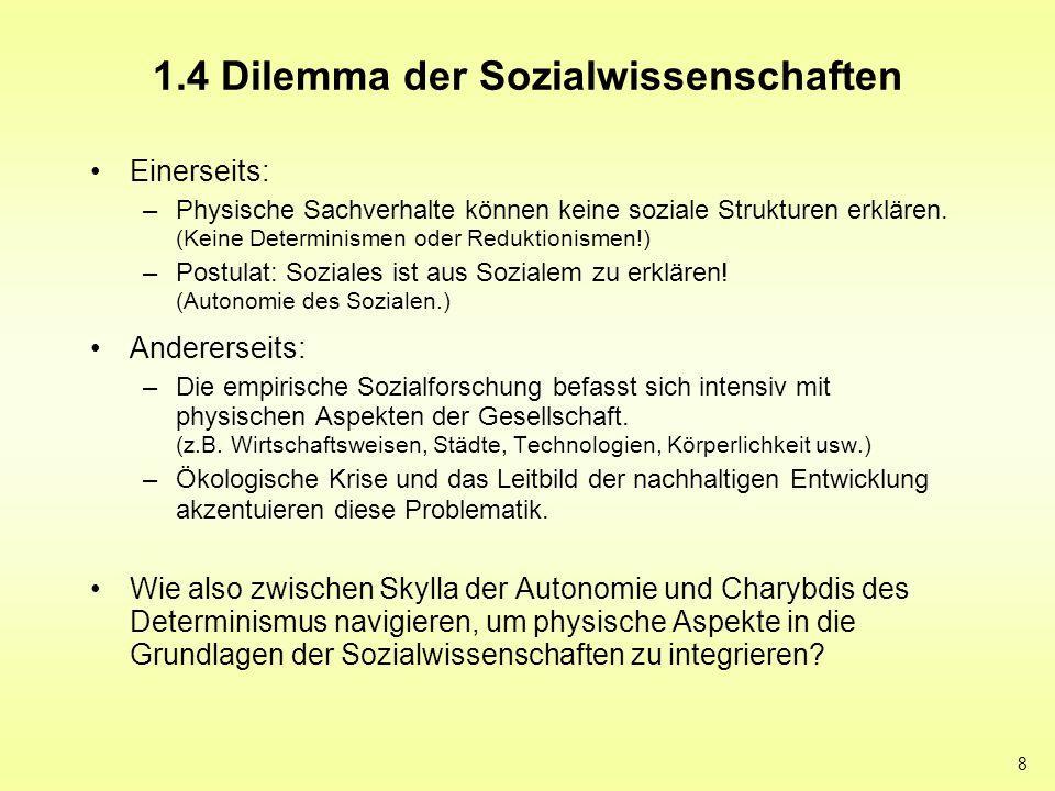 1.4 Dilemma der Sozialwissenschaften