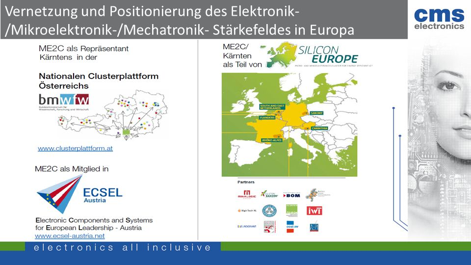 Vernetzung und Positionierung des Elektronik- /Mikroelektronik-/Mechatronik- Stärkefeldes in Europa