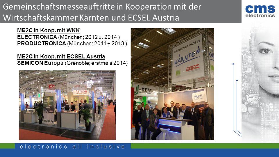 Gemeinschaftsmesseauftritte in Kooperation mit der Wirtschaftskammer Kärnten und ECSEL Austria