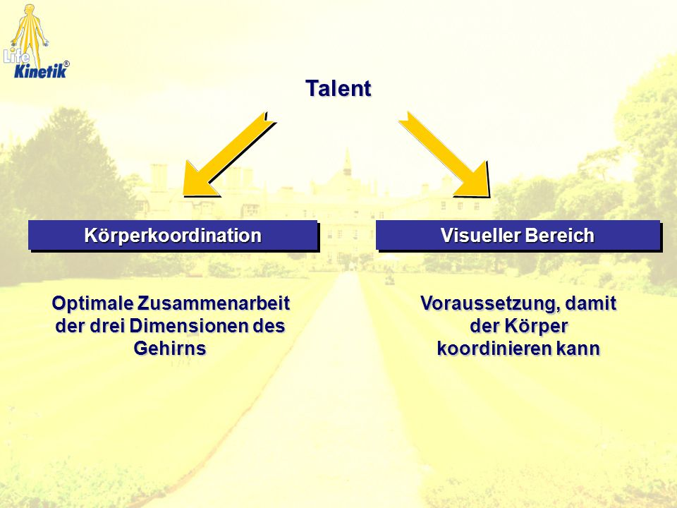 Talent Körperkoordination Visueller Bereich