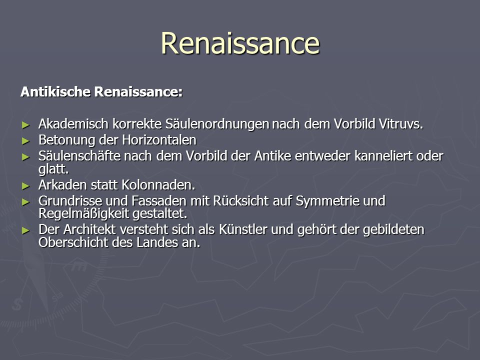 Renaissance Antikische Renaissance: