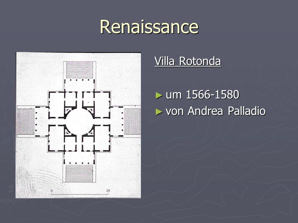 Renaissance Villa Rotonda um 1566-1580 von Andrea Palladio