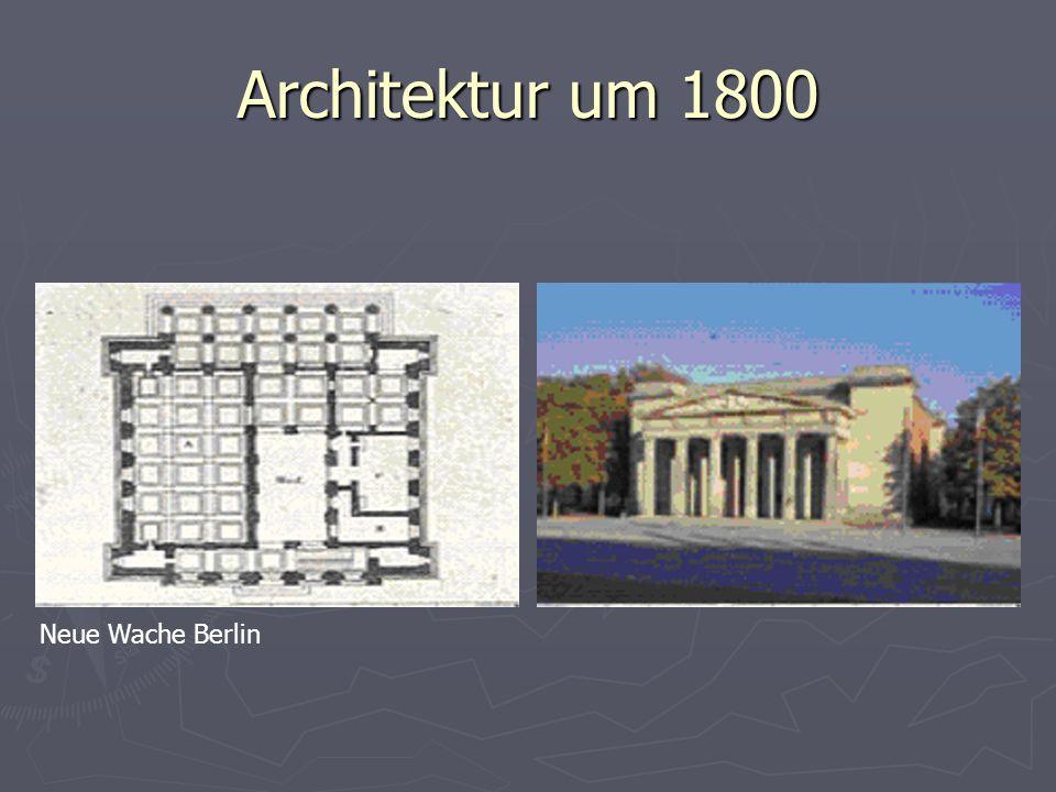 Architektur um 1800 Neue Wache Berlin
