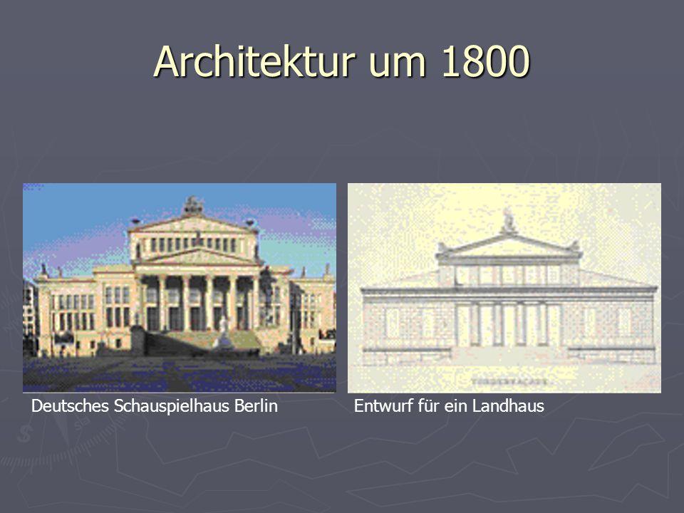 Architektur um 1800 Deutsches Schauspielhaus Berlin