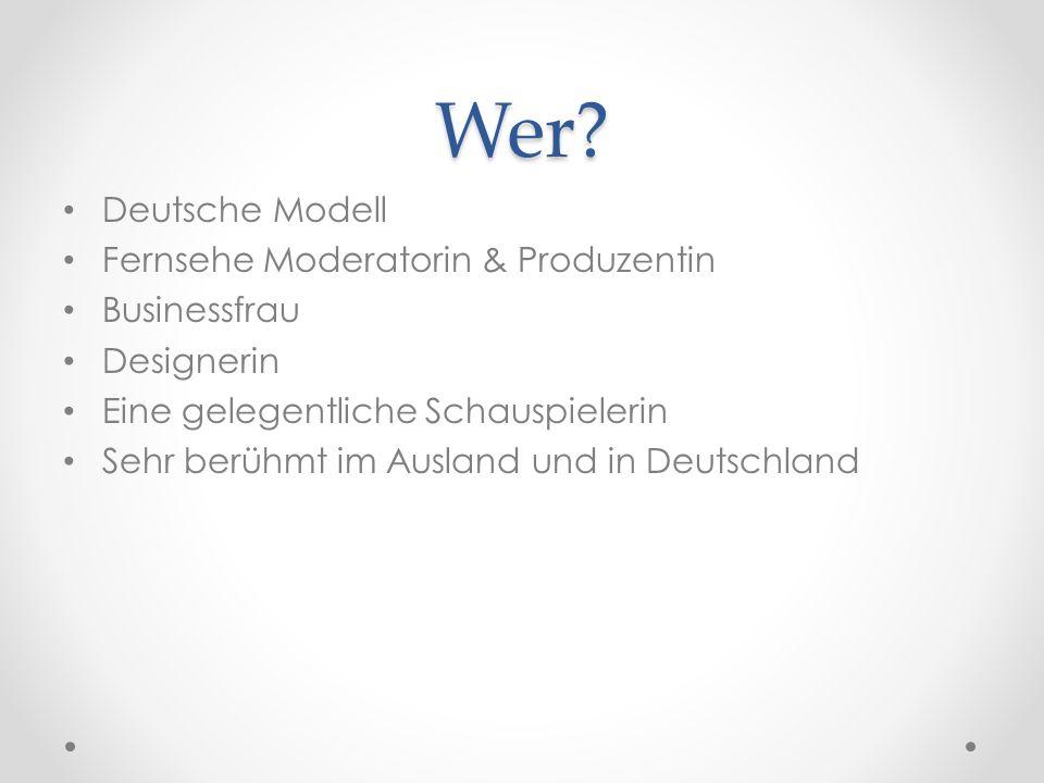 Wer Deutsche Modell Fernsehe Moderatorin & Produzentin Businessfrau