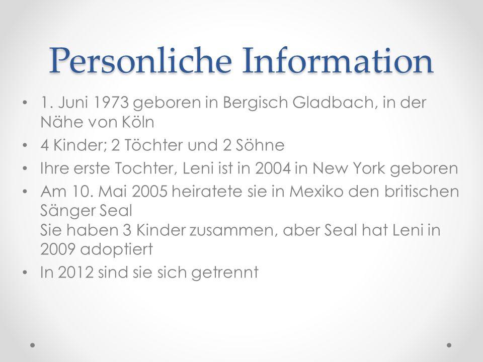Personliche Information