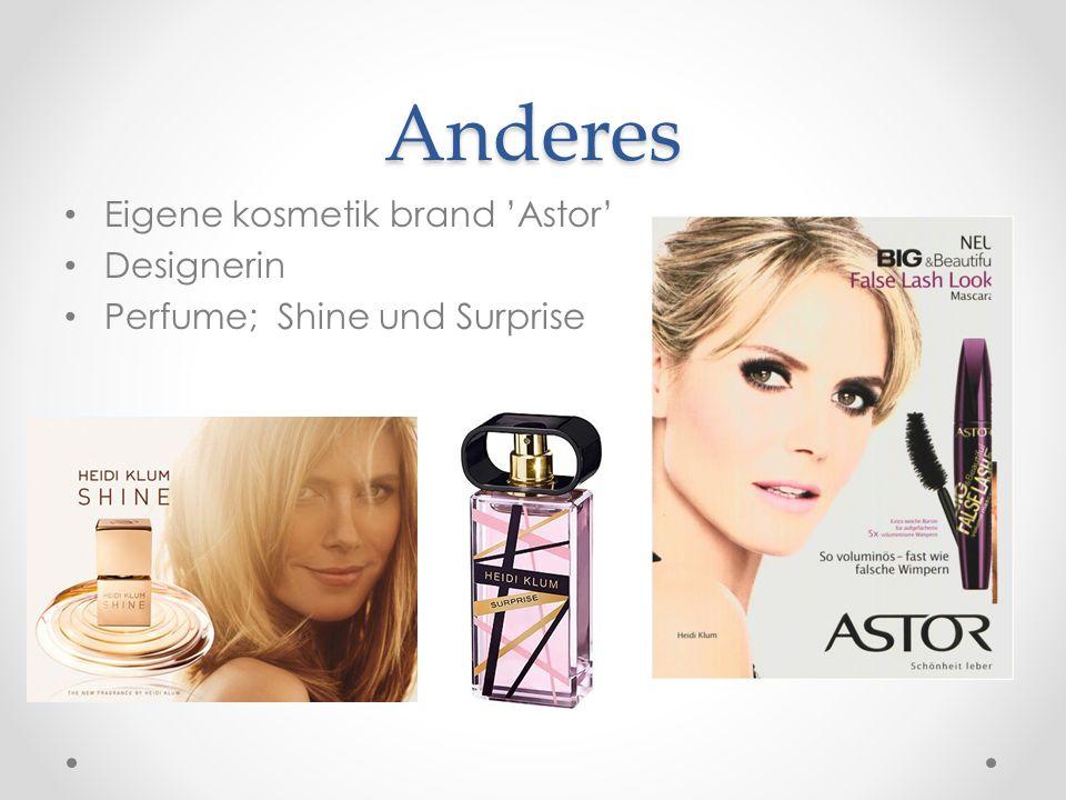 Anderes Eigene kosmetik brand 'Astor' Designerin