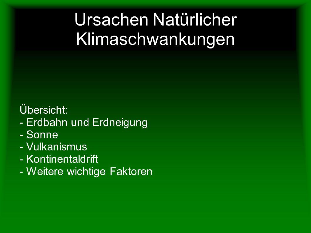 Ursachen Natürlicher Klimaschwankungen