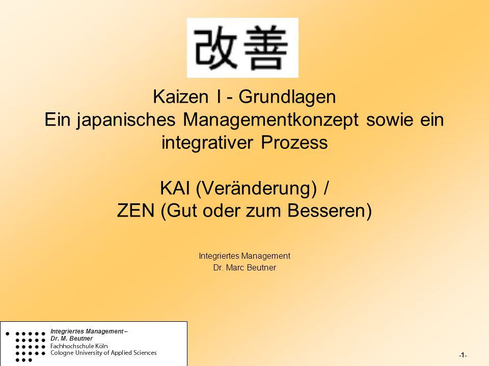 Integriertes Management Dr. Marc Beutner