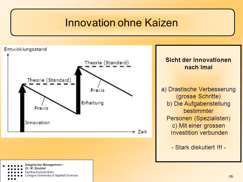 Innovation ohne Kaizen