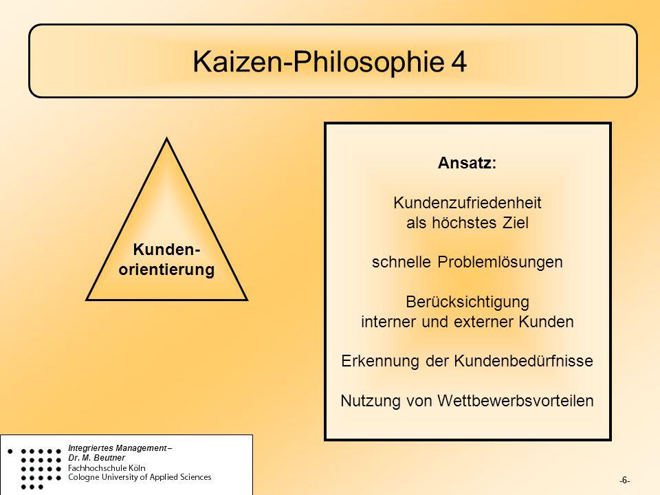 Kaizen-Philosophie 4 Ansatz: Kundenzufriedenheit als höchstes Ziel