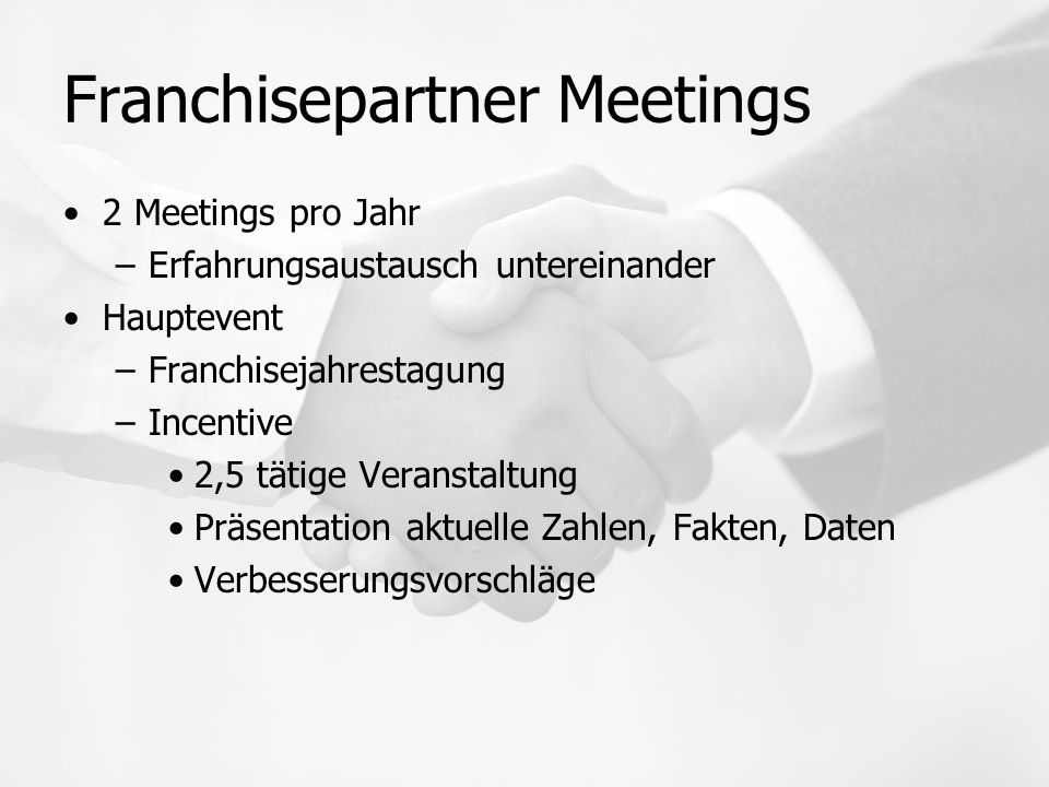 Franchisepartner Meetings