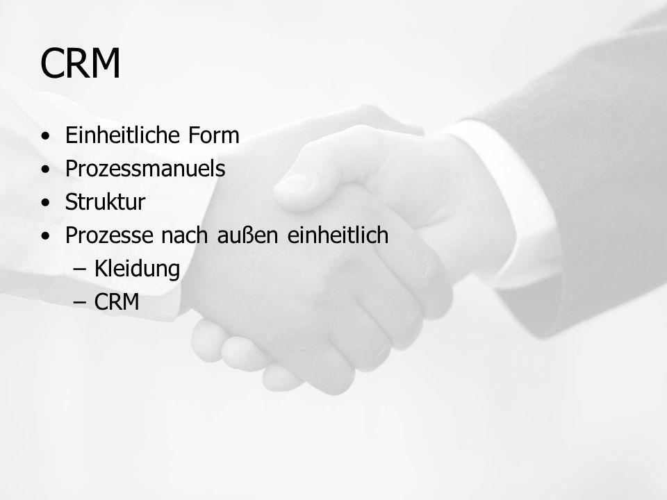 CRM Einheitliche Form Prozessmanuels Struktur