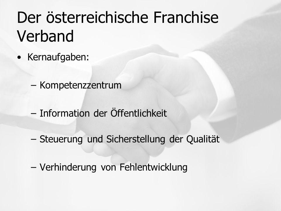 Der österreichische Franchise Verband