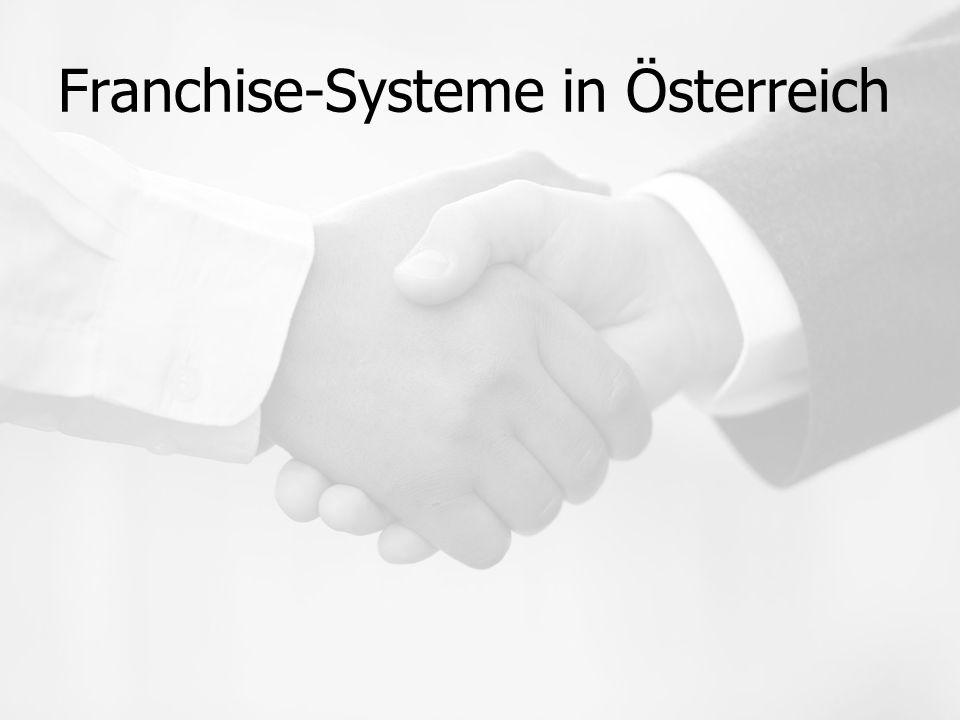 Franchise-Systeme in Österreich