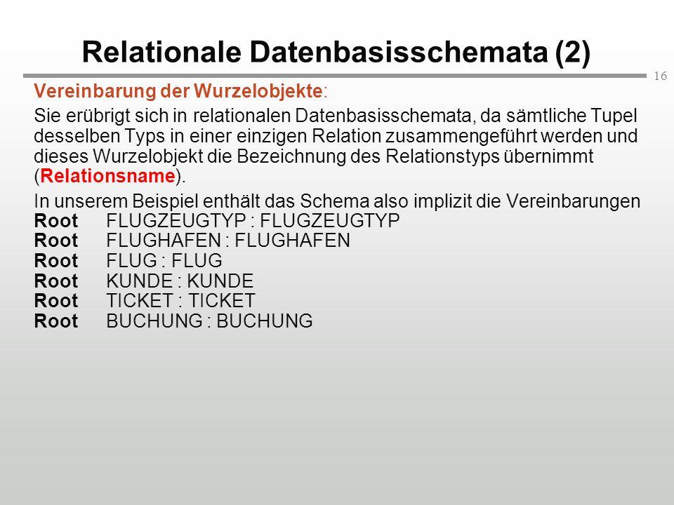 Relationale Datenbasisschemata (2)