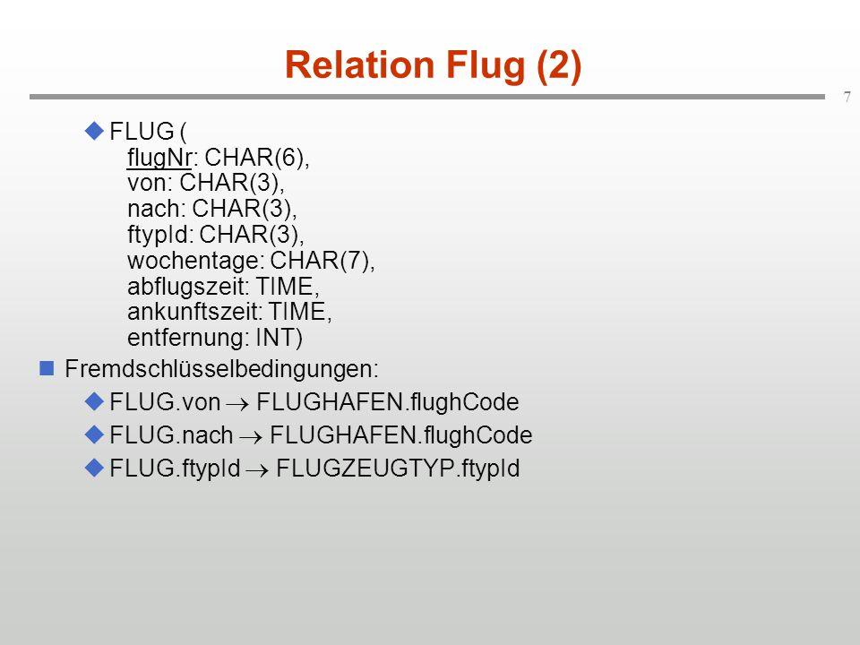 Relation Flug (2)