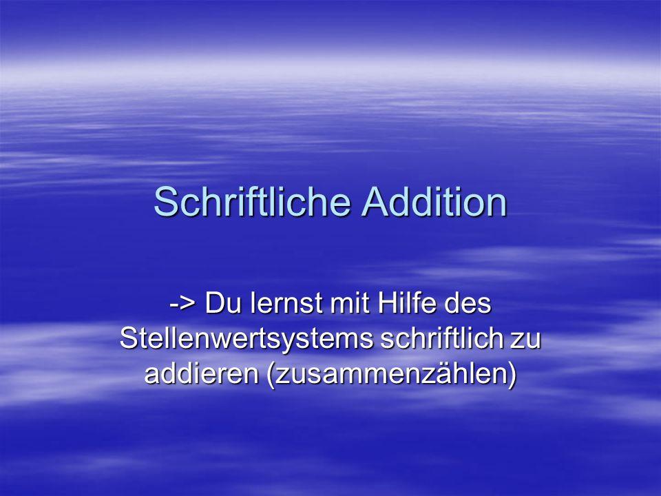 Schriftliche Addition