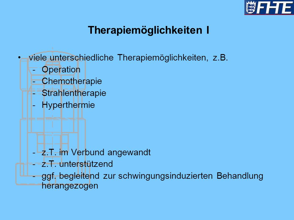 Therapiemöglichkeiten I