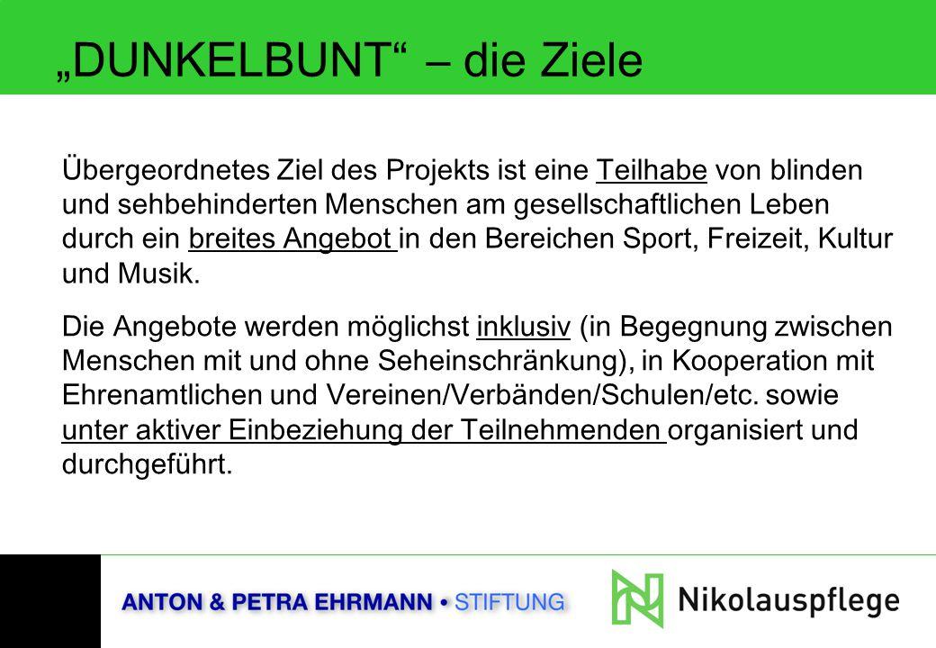 """""""DUNKELBUNT – die Ziele"""