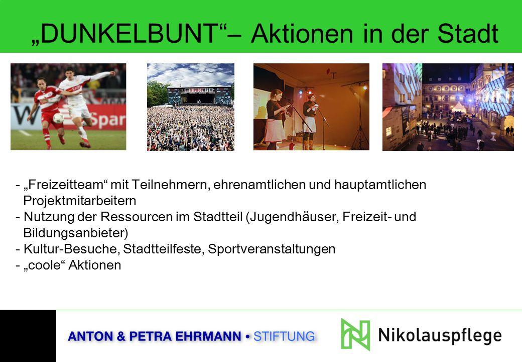 """""""DUNKELBUNT – Aktionen in der Stadt"""