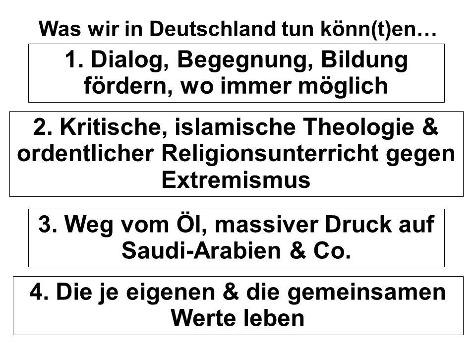 Was wir in Deutschland tun könn(t)en…