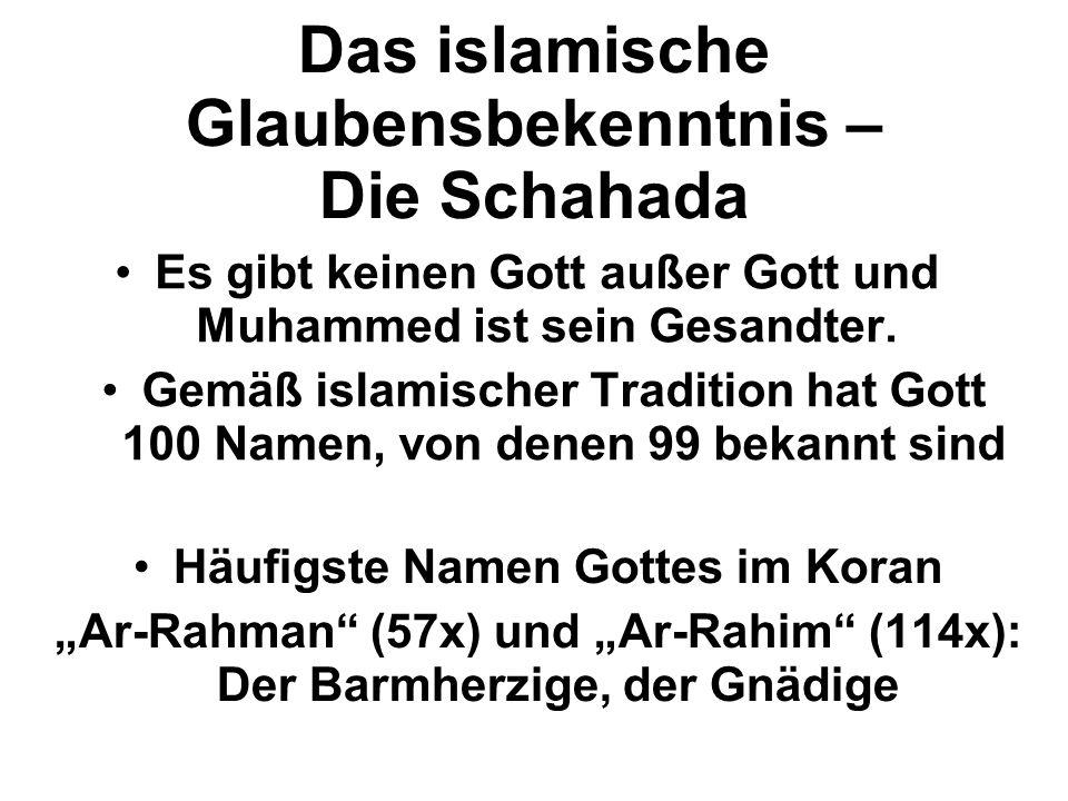 Das islamische Glaubensbekenntnis – Die Schahada